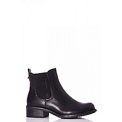 Quiz - Black diamante detail Chelsea boots