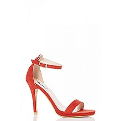 Quiz - Rust faux suede heels sandals