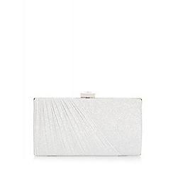Quiz - Silver Shimmer Jewel Box Bag