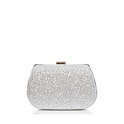 Quiz - Silver glitter box bag