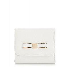 Quiz - White Faux Leather Bow Bag