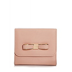 Quiz - Nude Faux Leather Bow Bag