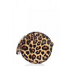 Quiz - Leopard print circle bag