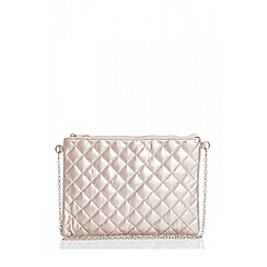 Quiz Rose Gold Snake Print Clutch