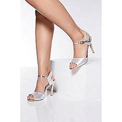 Quiz - Silver high heel sandals