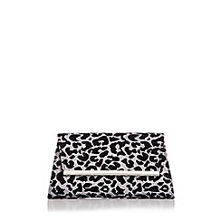 Quiz - Glitter leopard print clutch bag