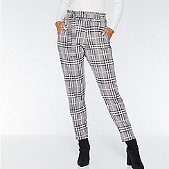 Quiz - Black white and pink paper bag trousers