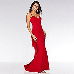 Quiz - Red Strappy Cross Over Backless Dress