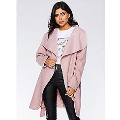 Quiz - Pink felt teddy bear waterfall jacket