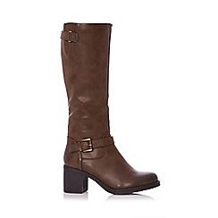 Quiz - Brown buckle knee boots