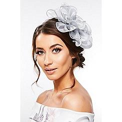 Quiz - Grey Floral Jewel Headband Fascinator