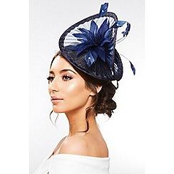 Quiz - Navy Twist Floral Headband Fascinator