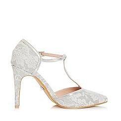 Quiz - Silver Glitter Lace T-Bar Courts