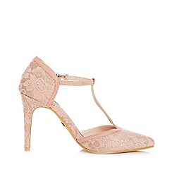Quiz - Pink Glitter Lace T-Bar Courts