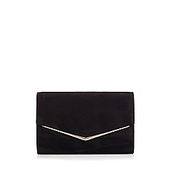 Quiz - Black Faux Suede Envelope Bag