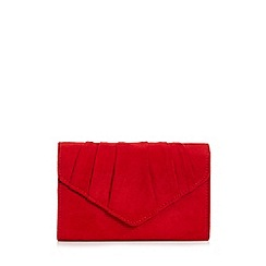 Quiz - Red Faux Suede Pleat Bag