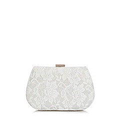 Quiz - Silver Glitter Lace Box Bag