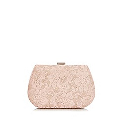 Quiz - Pink Glitter Lace Box Bag