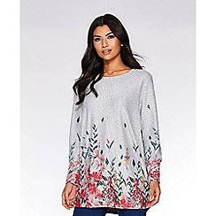 Quiz - Grey and pink light knit top