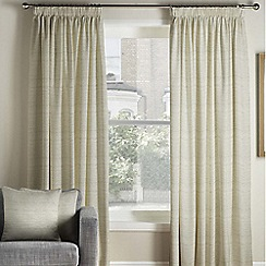 Montgomery - Bali beige lined pencil pleat heading curtains