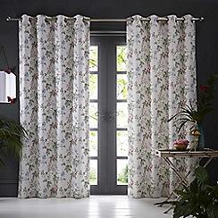 Clarke & Clarke - Bailey 'Blush' fully lined eyelet curtains