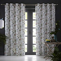 Clarke & Clarke - Bailey 'Mineral' fully lined eyelet curtains