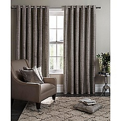 Clarke & Clarke - Campello charcoal lined eyelet heading curtains