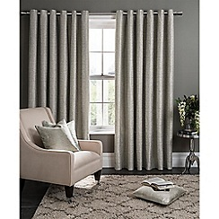 Clarke & Clarke - Campello putty lined eyelet heading curtains