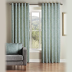 Montgomery - Duck Egg 'Canon' fully lined eyelet curtains