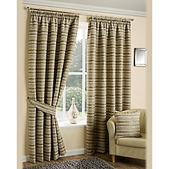 Joshua Thomas - Lime 'Chicago' fully lined pencil pleat curtains