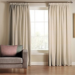 Tru Living - Classique Beige Polyester Cotton Lined Pencil Pleat Curtains