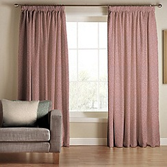 Tru Living Clique Pink Polyester Cotton Lined Pencil Pleat Curtains