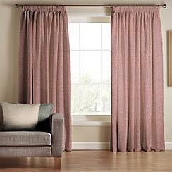 Tru Living - Classique Pink Polyester Cotton Lined Pencil Pleat Curtains