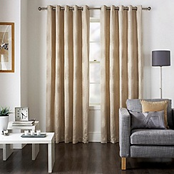 Jeff Banks Home - Diego Natural Eyelet Heading Lined Curtains