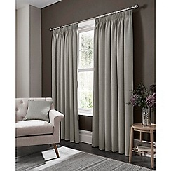 Clarke & Clarke - Elba feather lined pencil pleat heading curtains