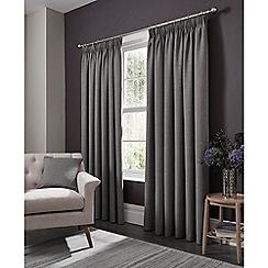 Clarke & Clarke - Elba grey lined pencil pleat heading curtains