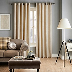 Jeff Banks Home - Ennerdale Cream Eyelet Heading Lined Curtains