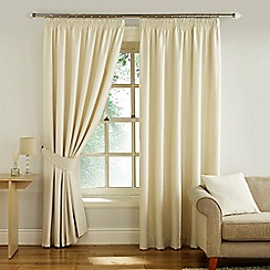 Montgomery - Cream 'Glamour' fully lined pencil pleat curtains