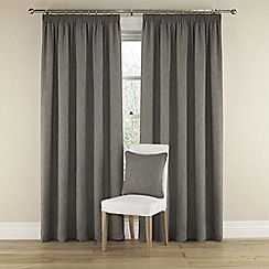 Montgomery - Grey 'Harrison' lined curtains With pencil heading