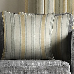 Montgomery - Mustard & Grey 'Hove Stripe' cushion covers