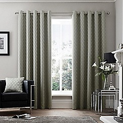 Curtina - Islington Silver  Eyelet Heading Curtains