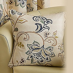 Joshua Thomas - Azure 'Jacobean' cushion cover