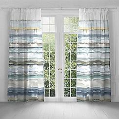 Voyage - Jadu Granite lined pencil pleat heading curtains
