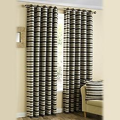 Joshua Thomas - Charcoal 'Horizon' eyelet curtains