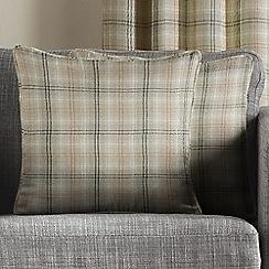 Montgomery - Natural 'Kirkwall Check' cushion covers