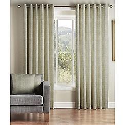 Montgomery - Grey 'Kohiki' lined eyelet curtains