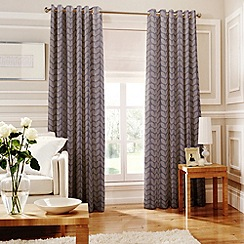 Whiteheads - Loretta Mauve Lined Eyelet Curtains