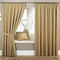 Curtina - Marlowe Natural Lined Pencil Pleat Curtains