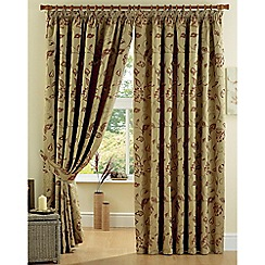 Curtina - Maybury Terracotta Lined Pencil Heading Curtains