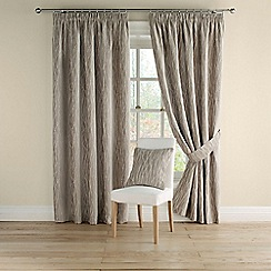 Montgomery - Mineral 'Meadow' pair of curtains with pencil heading